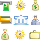 Finance and banking Icon Set (Vector) Stock Photography