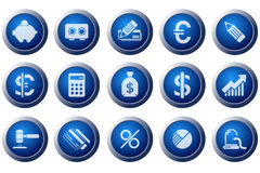 Finance and Banking icons Stock Images