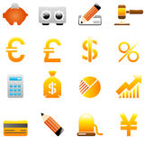 Finance and Banking icons Royalty Free Stock Images