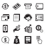 Finance & banking icons, credit card, atm Illustration Vector. Finance & banking icons, credit card, atm Vector illustration graphic design symbol Royalty Free Stock Photography