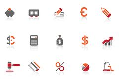 Finance & Banking icons |part 8 series 1 Stock Photography
