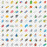100 finance and banking icons set, isometric style. 100 finance and banking icons set in isometric 3d style for any design vector illustration Royalty Free Stock Photo