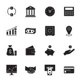 Finance and banking  icons. Simple money icons set. Royalty Free Stock Photography