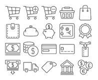 Finance and banking line icons. Modern line style icons: Finance and banking Stock Images