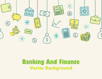 Finance and banking ,Money background , print , seamless Royalty Free Stock Photos