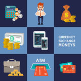 Finance banking set. Finance  banking set Money, finance.vector illustration Stock Image