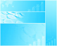 Finance banners, backgrounds. Set of finance  backgrounds wit copy-space Stock Photo