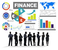 Finance Bar Graph Chart Investment Money Business Concept Stock Image