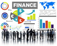 Finance bar graph chart investment money business concept Royalty Free Stock Image