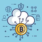 Finance with bitcoin icons. Vector illustration design Royalty Free Stock Photo