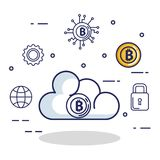 Finance with bitcoin icons. Vector illustration design Royalty Free Stock Photography