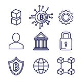 Finance with bitcoin icons. Vector illustration design Royalty Free Stock Photos