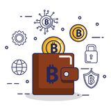 Finance with bitcoin icons. Vector illustration design Stock Photos