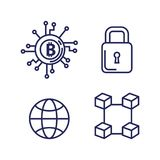 Finance with bitcoin icons. Vector illustration design Royalty Free Stock Image