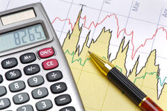 Finance and budget calculation Royalty Free Stock Images