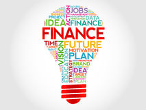 FINANCE bulb Royalty Free Stock Images