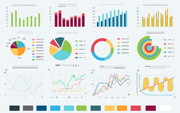 Finance and business Banner design elements. Detailed info graphic vector illustration set. Royalty Free Stock Photos