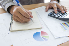 Finance business calculation Royalty Free Stock Photography