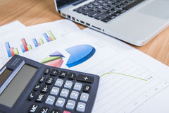 Finance business calculation Royalty Free Stock Photos