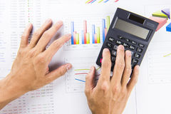 Finance business calculation Royalty Free Stock Images