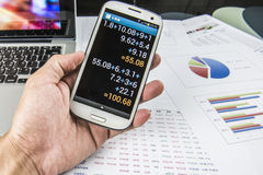 Finance business calculation Stock Photography