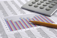 Finance business calculation Stock Photo