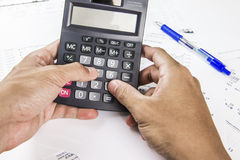 Finance business calculation Stock Photos