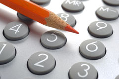 Finance business calculation Stock Images