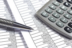 Finance business calculation Royalty Free Stock Photo