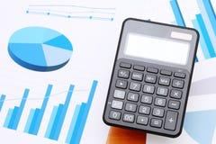Finance business calculator Stock Photography