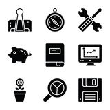 Finance And Business Glyph Icons Pack vector illustration