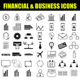 Finance and Business Icon. Set, Vector, Illustration, EPS8 Stock Image