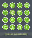 Finance and business icons. Finance and Banking icons on stickers Stock Image