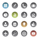 Finance and business icons. Vector illustration of finance and business icons Stock Photos