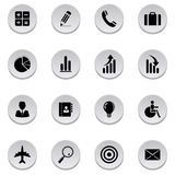 Finance and business icons. Vector illustration of finance and business icons Royalty Free Stock Photos