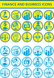 Finance and business icons. Illustration Stock Photography