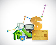 Finance business icons illustration design Royalty Free Stock Image