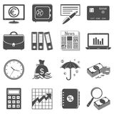 Finance and business icons. Isolated on white background Royalty Free Stock Photography