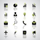 Finance and business icons set. Vector finance and business icons set Royalty Free Stock Images