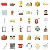 Finance business icons set, cartoon style. Finance business icons set. Cartoon style of 36 finance business vector icons for web isolated on white background Royalty Free Stock Image