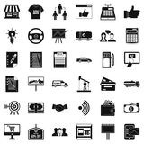 Finance business icons set, simple style. Finance business icons set. Simple style of 36 finance business vector icons for web isolated on white background Stock Image