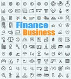 100 Finance Business icons set for a variety of applications. 100 Finance Business icon set for a variety of applications and web Stock Photography