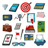 Finance, business and investments sketch symbols Stock Image