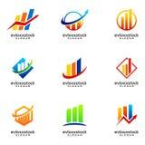 Set Of Finance Business Logo Design Template vector illustration