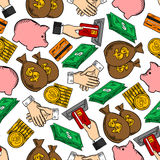Finance, business and money pattern Stock Images