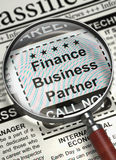 Finance Business Partner Join Our Team. 3D. Royalty Free Stock Photos