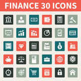 Finance & Business 30 Vector Icons. 30 new vector icons for your convenience. Perfect for web design, presentations, and various promotional materials Royalty Free Stock Photo