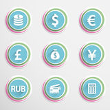 Finance buttons. Set of colorful finance buttons. Vector illustration.Eps10 Stock Photo