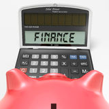 Finance Calculator Shows Money, Commerce And Accounting Royalty Free Stock Image