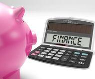 Finance Calculator Shows Revenue Income And Success Stock Photography
